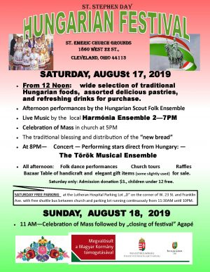 HUNGARIAN FESTIVAL -AUGUST 17/18, 2019